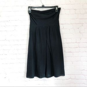[J. Crew] black strapless tulip front dress